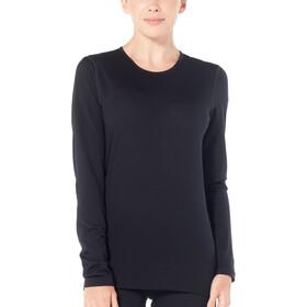 Icebreaker 200 Oasis Longsleeve Crew Shirt Dames, black